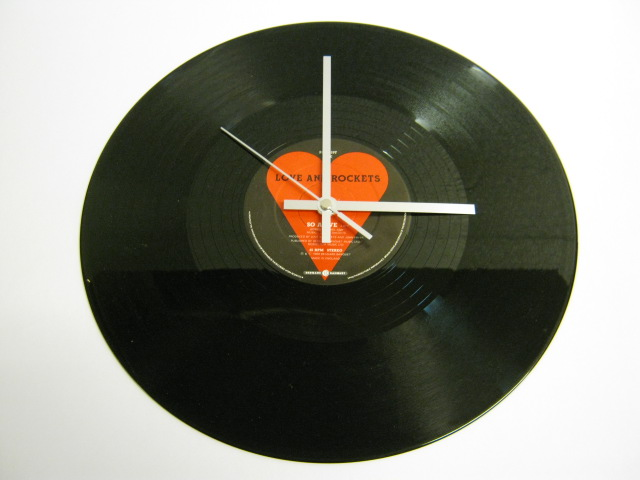 "Love And Rockets  - ""So Alive"" Record Wall Clock"