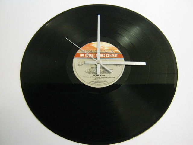 "Elton John - ""Too Low For Zero"" Record Wall Clock"