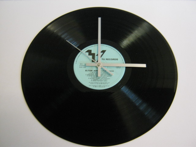 "Elton John - ""Love Songs"" Record Wall Clock"