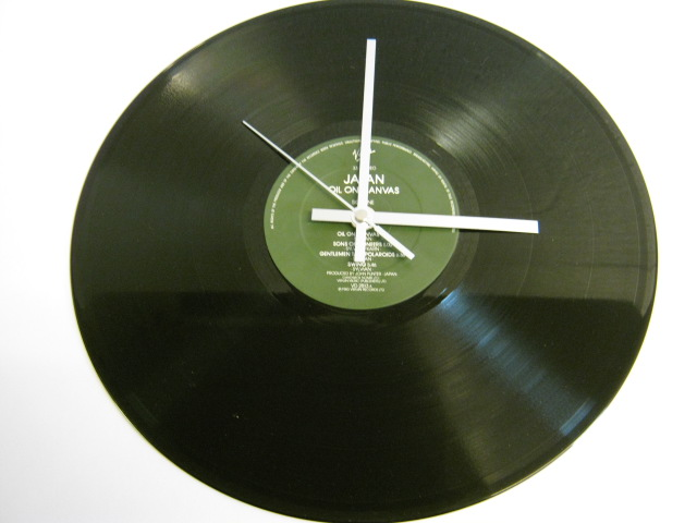 "Japan - ""Oil On Canvas"" Record Wall Clock"