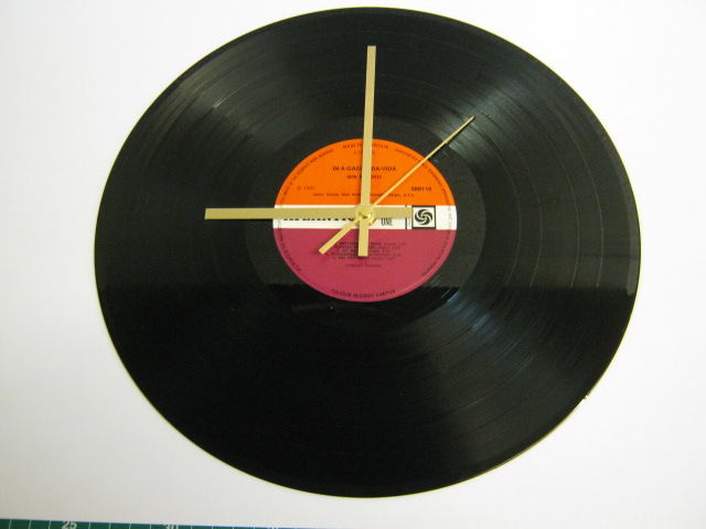 "Iron Butterfly - ""In-A-Gadda-Da-Vida"" Record Wall Clock"