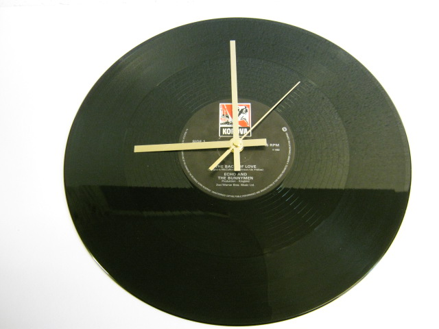"Echo And The Bunnymen - ""The Back Of Love"" Record Wall Clock"