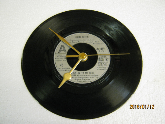 "Jimmy Ruffin - ""Hold On To My Love"" Vinyl Record Wall Clock"