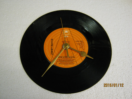 "Jimmy Ruffin - ""Fallin' In Love With You"" Promotional Vinyl Record Wall Clock"