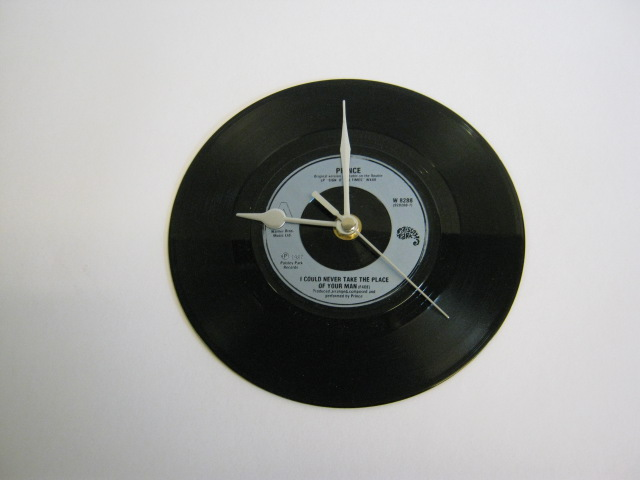 "Prince - ""I Could Never Take The Place Of Your Man""  Vinyl Record Wall Clock"