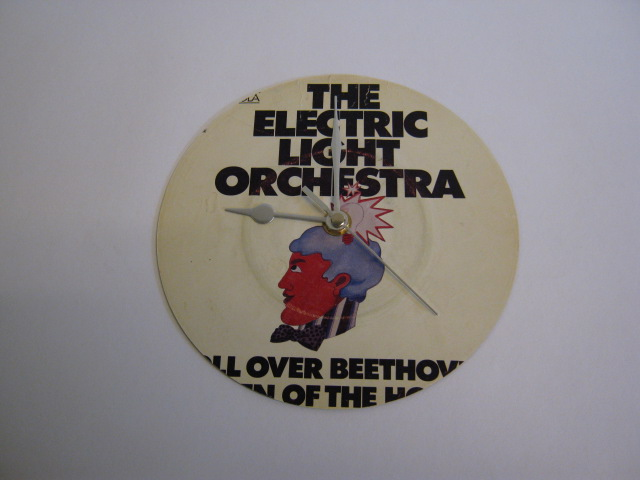 "Electric Light Orchestra - ""Roll Over Beethove""  Vinyl Record Sleeve Wall Clock"