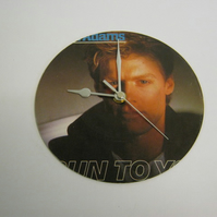 "Bryan Adams ""Run To You"" 7"" Vinyl Record Sleeve Wall Clock"