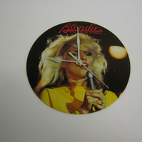 "Blondie ""Hanging On The Telephone"" 7"" Vinyl Record Sleeve Wall Clock"