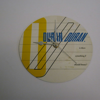 "Duran Duran ""Is There Something I Should Know"" 7"" Vinyl Record Sleeve Wall Clock"