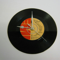 "Edith Piaf ""Non, Je Ne Regrette Rien"" Vinyl Record Wall Clock"