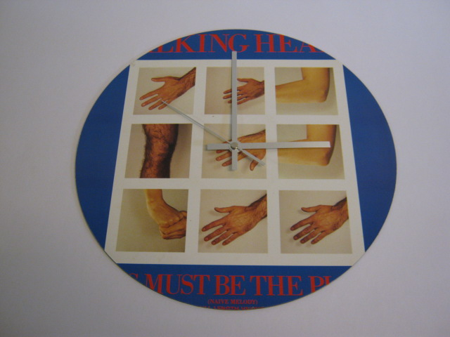 "Talking Heads ""This Must Be The Place"" 12"" Vinyl Record Sleeve Wall Clock"