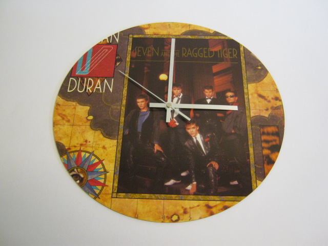 "Duran Duran - ""Seven & The Ragged Tiger"" 12"" Vinyl Record Sleeve Wall Clock"