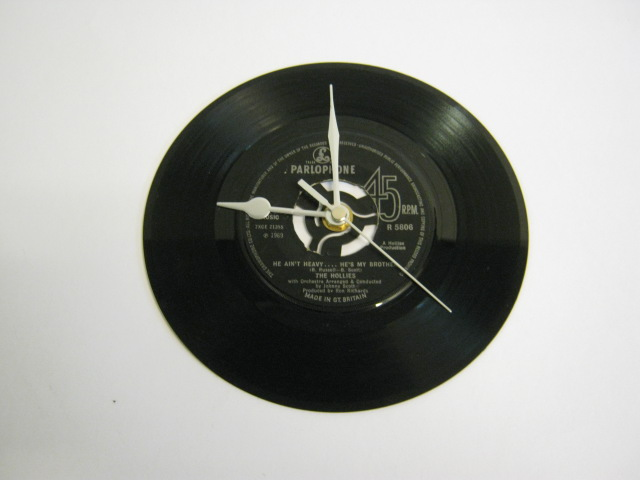 "The Hollies - ""He Ain't Heavy, He's My Brother"" 7"" Vinyl Record Wall Clock"