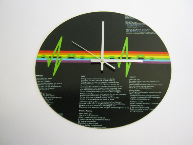 "Pink Floyd - ""Dark Side Of The Moon"" 12"" Vinyl Record Sleeve Wall Clock"