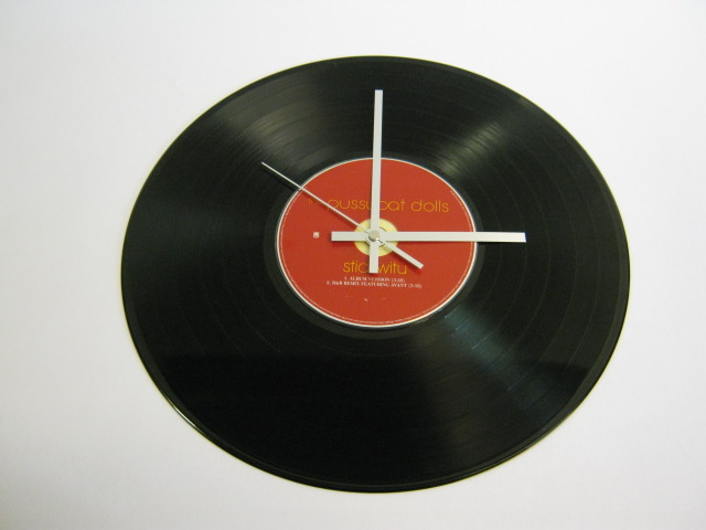 "The Pussycat Dolls - ""Stickwitu"" CD & 12"" Vinyl Record Wall Clock"