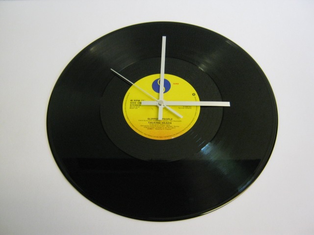 "Talking Heads - ""Slippery People""12"" Vinyl Record Wall Clock"