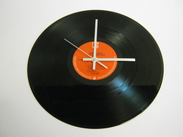 "Motley Crue - ""Too Fast For Love"" 12"" Vinyl Record Wall Clock"