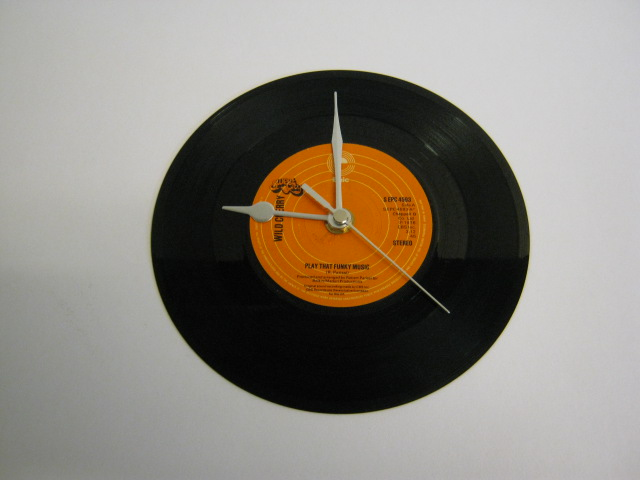 "Wild Cherry - ""Play That Funky Music"" 7"" Vinyl Record Wall Clock"