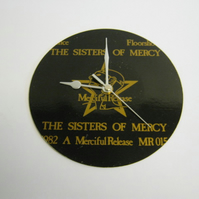 "Sisters Of Mercy ""Alice"" 7"" Vinyl Record Sleeve Wall Clock"