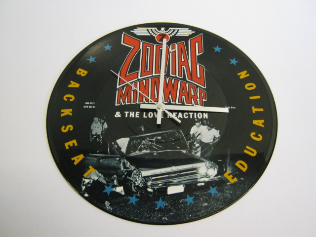 "Zodiac Mindwarp - ""Backseat Education"" Picture Disc 12"" Vinyl Record Wall Clock"