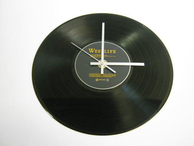 "Westlife ""You Raise Me Up"" 12"" Vinyl Record & Cd Wall Clock"
