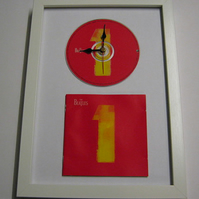 "The Beatles - ""Number Ones"" Framed CD Wall Clock"