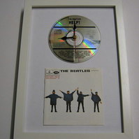 "The Beatles - ""Help!"" Framed CD Wall Clock"