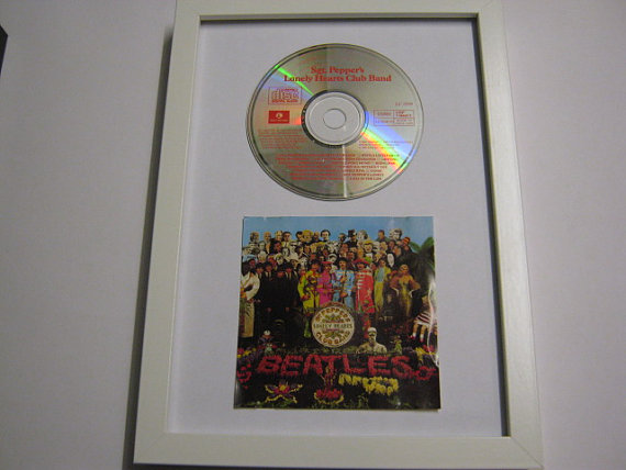 "The Beatles - ""Sgt. Peppers Lonely Hearts Club Band"" Framed CD"
