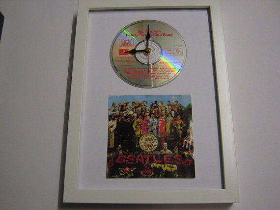 "The Beatles - ""Sgt. Peppers Lonely Hearts Club Band"" Framed CD Wall Clock"
