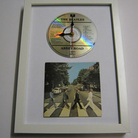 "The Beatles - ""Abbey Road"" Framed CD Wall Clock"