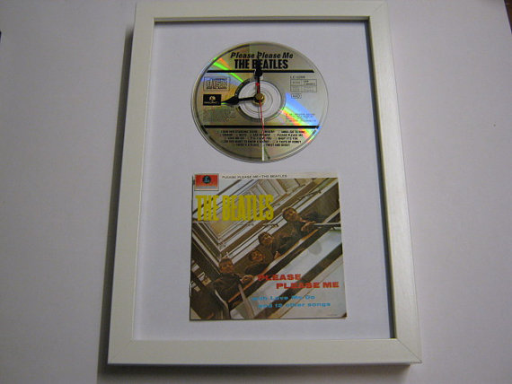 "The Beatles - ""Please Please Me"" Framed CD Wall Clock"