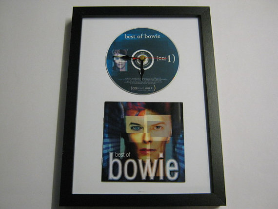 "David Bowie - ""The Best Of"" Framed CD Wall Clock"