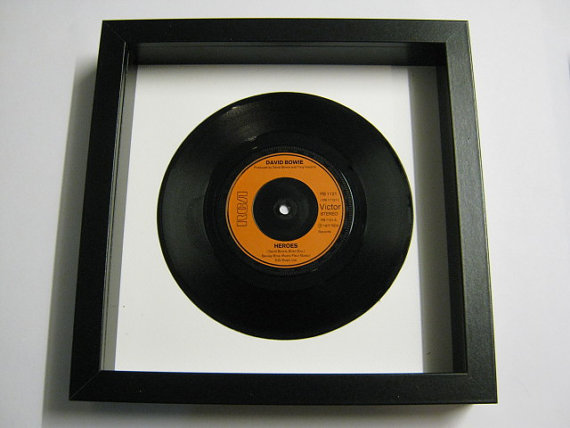 "David Bowie - ""Heroes"" Framed Record"