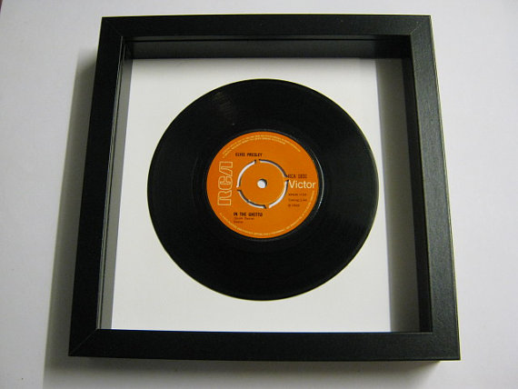 "Elvis Presely - ""In The Ghetto"" Framed Record"