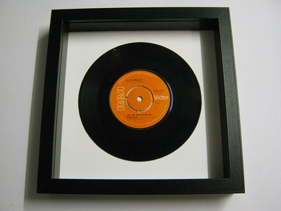 "Elvis Presely - ""(You're The) Devil In Disguise"" Framed Record"