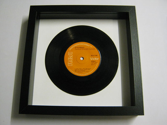 "Elvis Presely - ""I Just Can't Help Believin"" Framed Record"