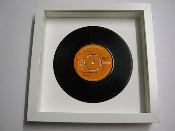 "Elvis Presely - ""The Wonder Of You"" Framed Record"