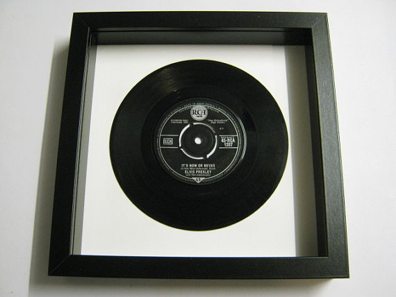 "Elvis Presely - ""It's Now Or Never"" Framed Record"