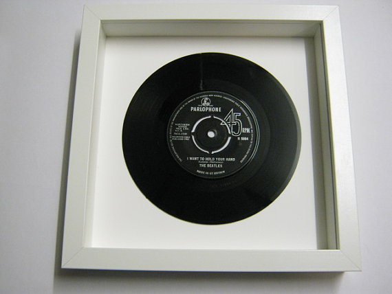 "The Beatles - ""I Want To Hold Your Hand"" Framed Record"