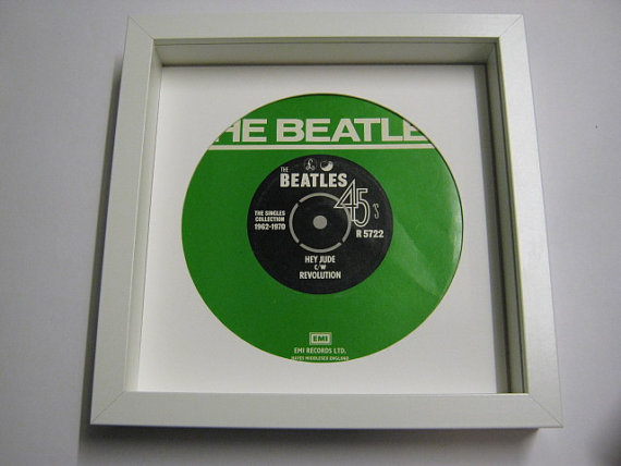 "The Beatles - ""Hey Jude, Revolution"" Framed Record Sleeve"