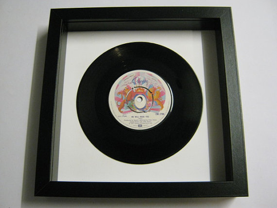 "Queen - ""We Will Rock You"" Framed Record"
