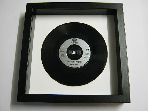 "Bon Jovi - ""Born To Be My Baby"" Framed Record"