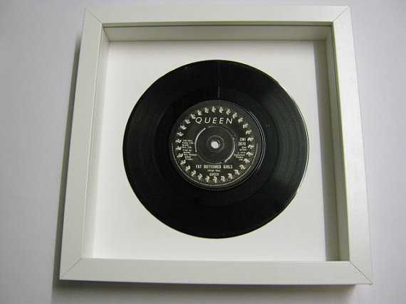"Queen - ""Fat Bottomed Girls"" Framed Record"