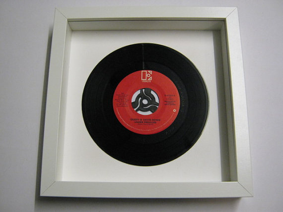 "Queen & David Bowie - ""Under Pressure"" Framed Record"