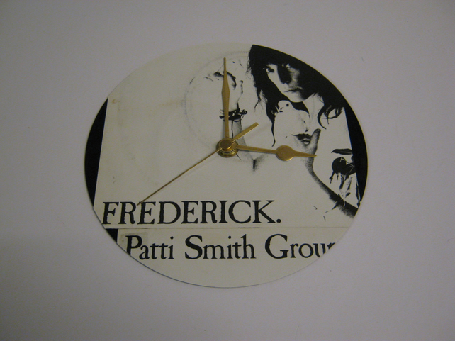 "Patti Smith Group - ""Frederick "" 7"" Vinyl Record Sleeve Wall Clock"
