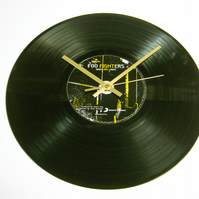 "The Foo Fighters -  ""Wasting Light"" 12"" CD & Vinyl Record Wall Clock"
