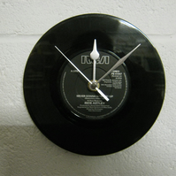 "Rick Astley - ""Never Gonna Give You Up"" 7"" Vinyl Record Wall Clock"