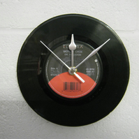 "Motley Crue - ""Dr. Feelgood"" 7"" Vinyl Record Wall Clock"