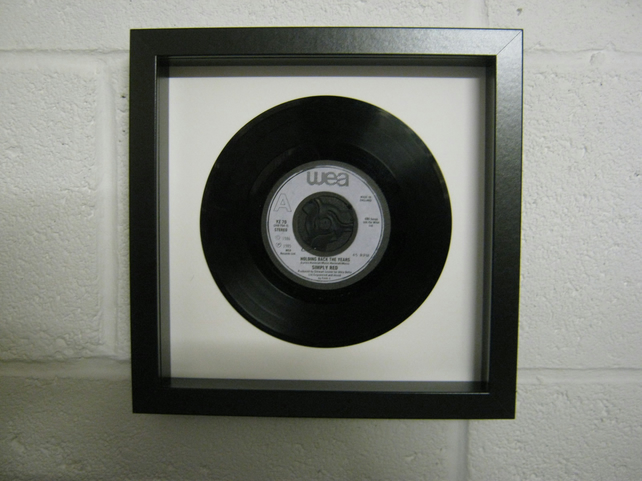 "Simply Red - ""Holding Back The Years"" Wall Framed 7"" Record"