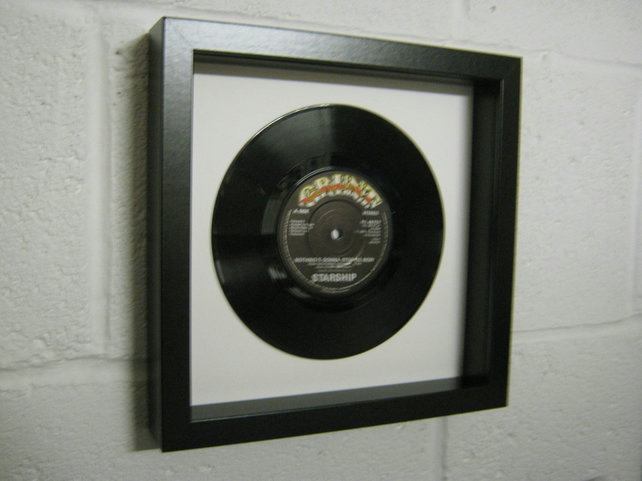 "Starship - ""Nothing's Gonna Stop Us Now"" Wall Framed 7"" Record"